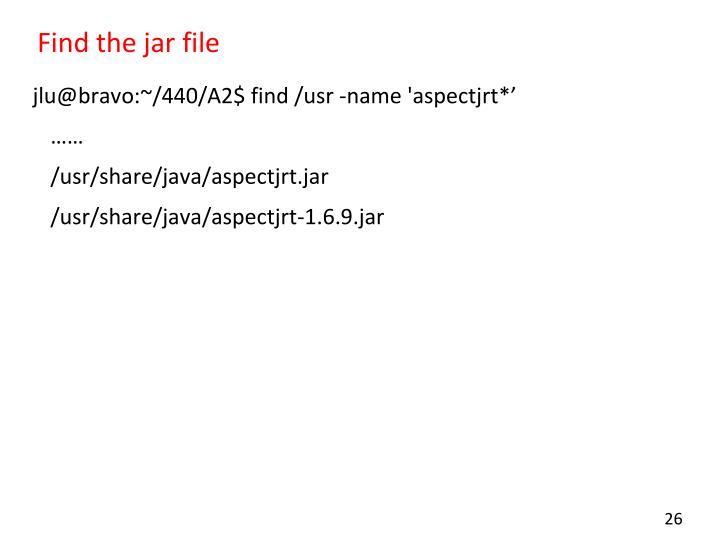 Find the jar file