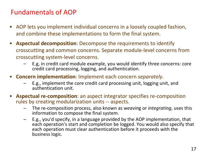 Fundamentals of AOP