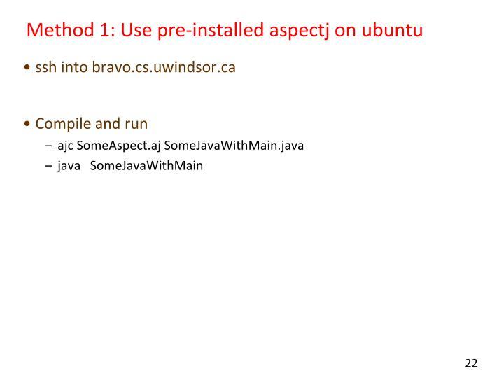 Method 1: Use