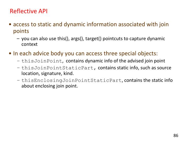 Reflective API
