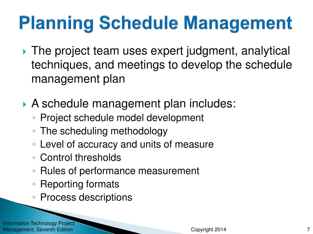 PPT - Chapter 6: Project Time Management PowerPoint