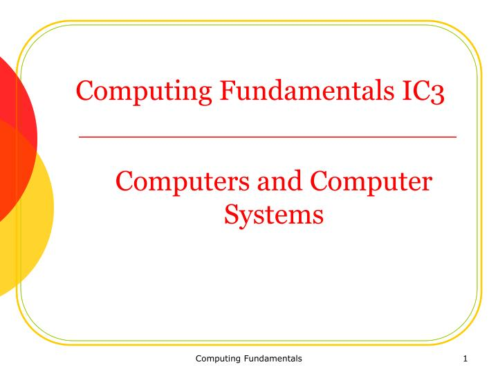 computers and computer systems n.