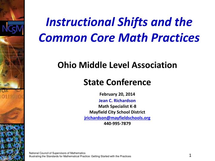 instructional shifts and the common core math practices n.