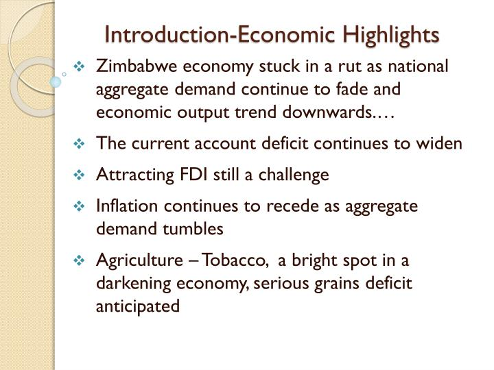 Introduction economic highlights