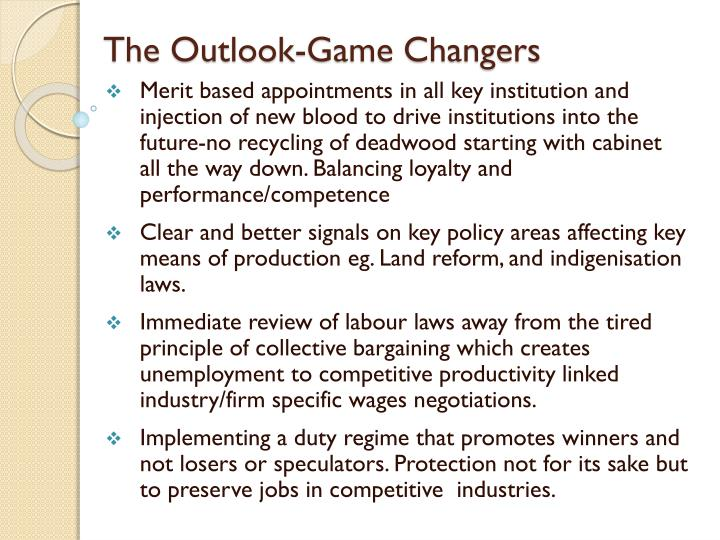 The Outlook-Game Changers