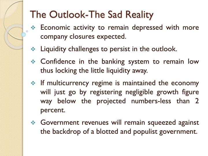 The Outlook-The Sad Reality