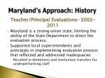 maryland s approach history4