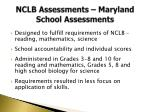 nclb assessments maryland school assessments