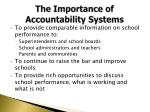 the importance of accountability s ystems
