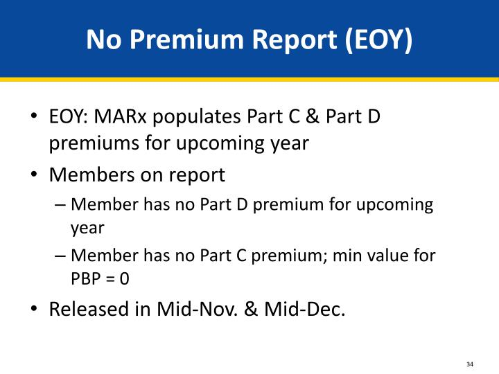 No Premium Report (EOY)