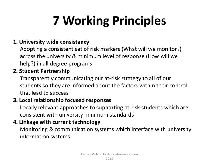7 Working Principles