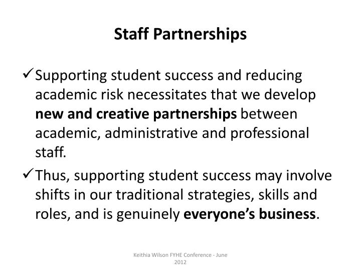 Staff Partnerships