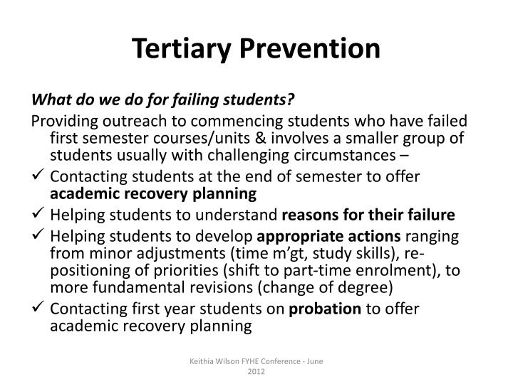 Tertiary Prevention