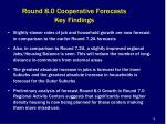 round 8 0 cooperative forecasts key findings
