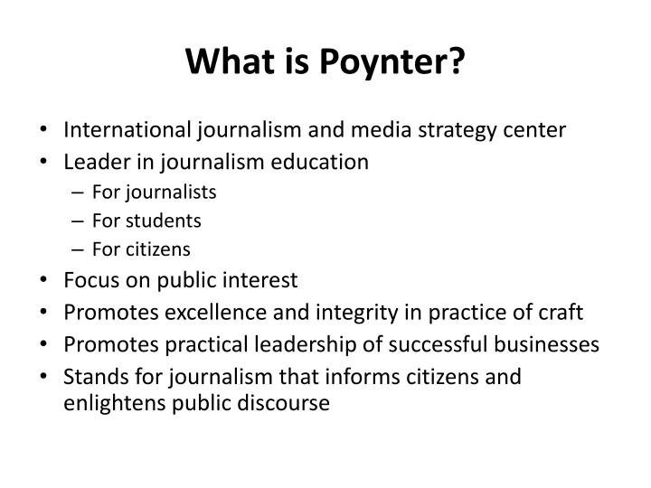 What is poynter