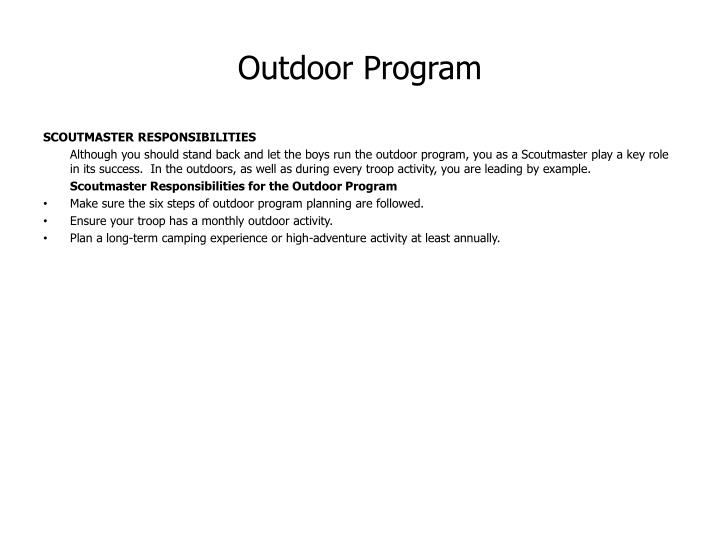 Outdoor Program