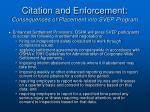 citation and enforcement consequences of placement into svep program3