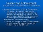citation and enforcement consequences of placement into svep program4