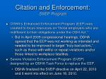 citation and enforcement svep program