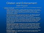 citation and enforcement svep program1