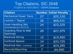 top citations sic 2048 1 1 2010 to 10 31 2010 osha database