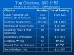 top citations sic 5153 1 1 2010 to 10 31 2010 osha database