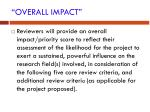 overall impact
