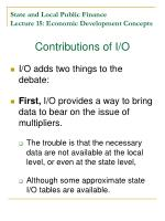 state and local public finance lecture 15 economic development concepts20