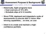 assessment purpose background
