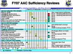 fy07 aac sufficiency reviews