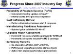 progress since 2007 industry day