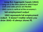 long run aggregate supply lras