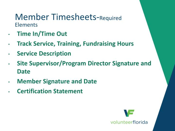 member timesheets required elements n.