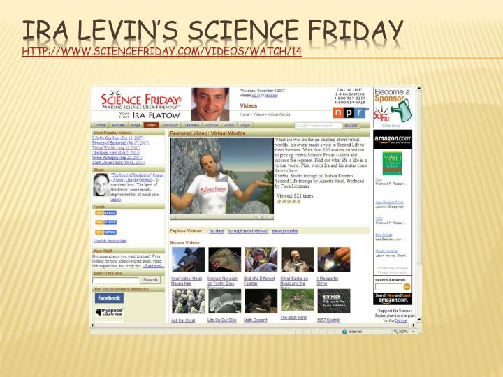 Ira Levin's Science Friday