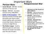 important wars
