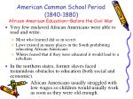 african american education before the civil war