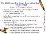 impact of economy on schools