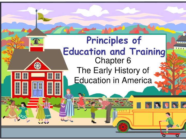 principles of education and training n.