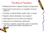 the role of teachers