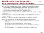 health concern and care plan new paradigm to define the ehrs