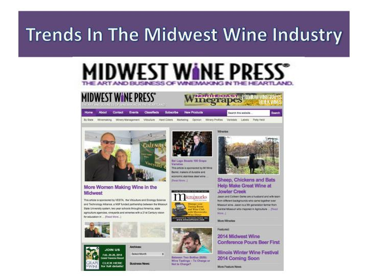 trends in the midwest wine industry n.