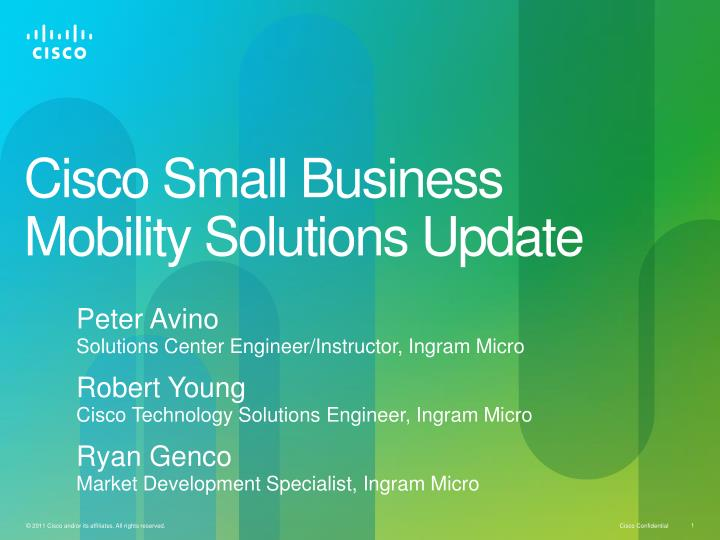 cisco small business mobility solutions update n.