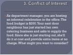 3 conflict of interest