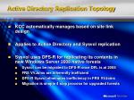 active directory replication topology