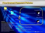 fine grained password policies