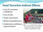 food terrorism indirect effects