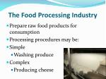 the food processing industry