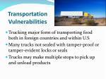 transportation vulnerabilities