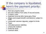 if the company is liquidated here s the payment priority