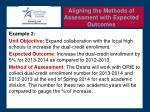 aligning the methods of assessment with expected outcomes1